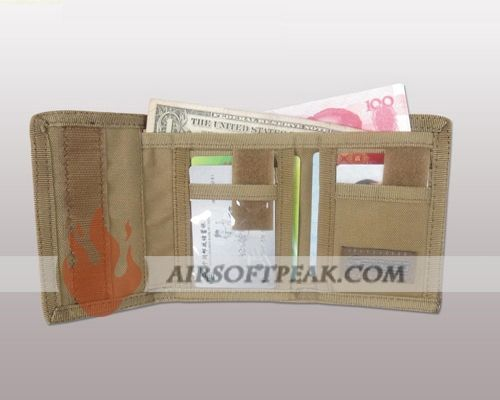 Spanker 1000D Tri-folded Tactical Military Wallet with Velcro Closure MAD - AirsoftPeak.com