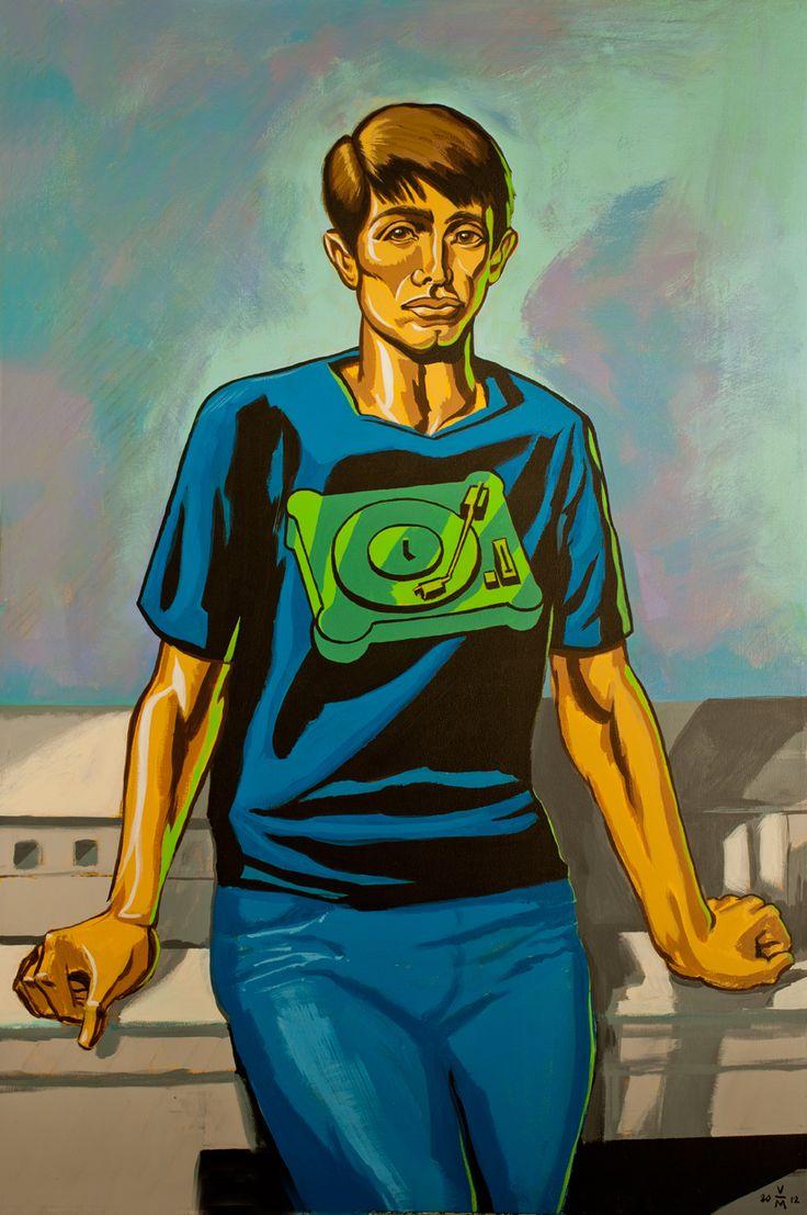Aron's Quest, 4x3 feet, acrylic on canvas.