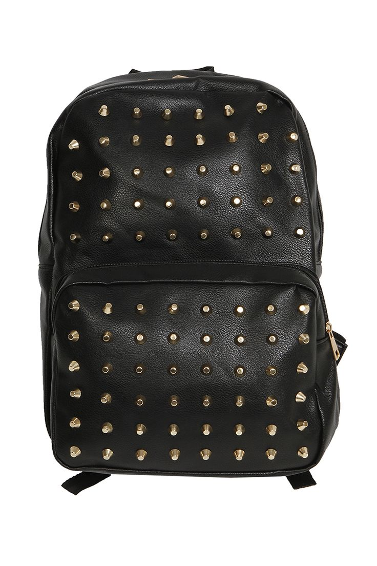 Leather studs backpack