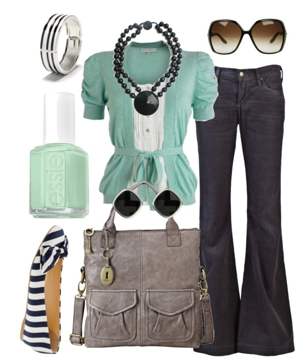 FashionShoes, Mint Green, Casual Outfit, Style, Clothing, Colors, Jeans, Fashion Looks, Work Attire
