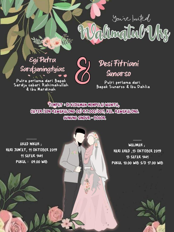 Undangan Digital Syar I Kartu Pernikahan Ide Perkawinan Pernikahan