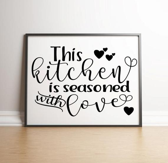 Download This kitchen is seasoned with love digital download ...