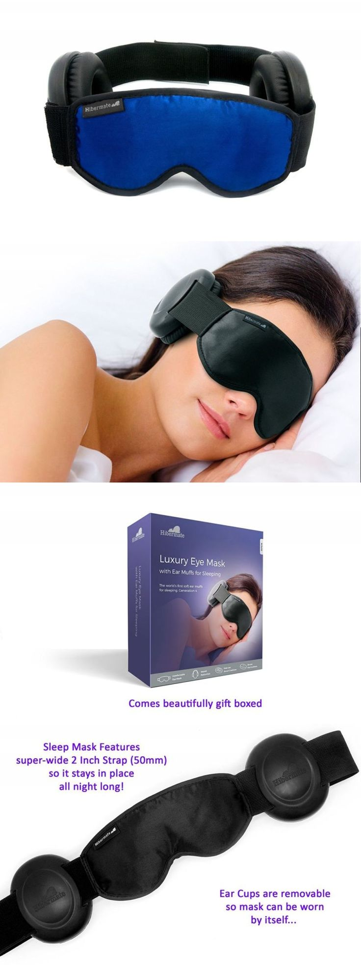 Sleep Masks: Hibermate Sleep Mask With Ear Muffs For Sleeping. Soft And Luxurious Mask, Satin E -> BUY IT NOW ONLY: $1344.99 on eBay!