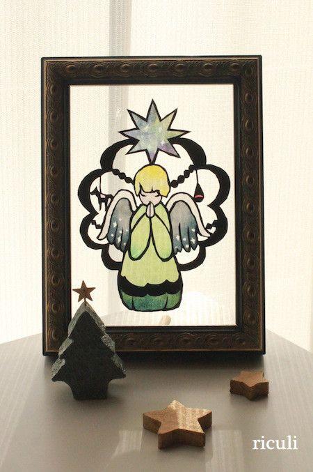 12月1日梅田ranbuでの天使の切り絵教室 の画像|小娘の切り絵制作日記