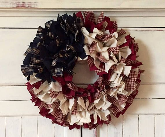 BUY 2 Discount  Wreath or Candle Ring  AMERICANA  Patriotic