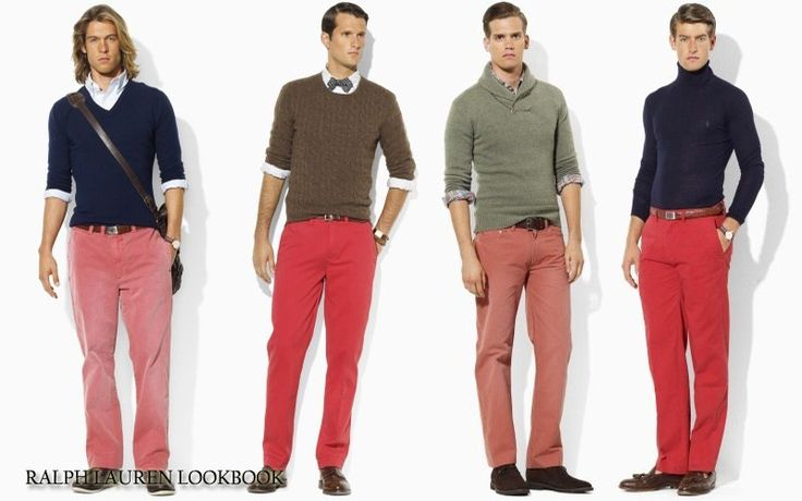Pink/red chinos are the future for me.