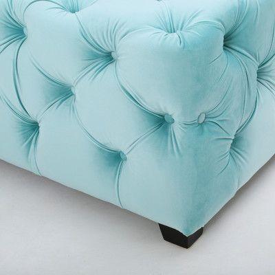 Home Loft Concepts Barrett Tufted Velvet Rectangular Ottoman U0026 Reviews |  Wayfair