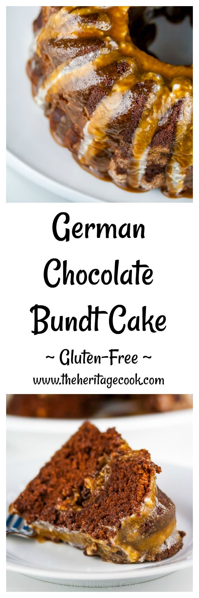Today we've got a German Chocolate Surprise Bundt Cake for you. The ordinary frosting is hidden inside - so fun when you cut into the cake and discover its surprise! A double glaze is a fun decoration. Rich & decadent, you will love it!  Jane Bonacci, The Heritage Cook!