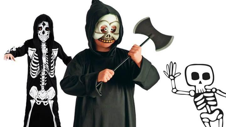 COstumi da morte e scheletro per bambini senza paura!
