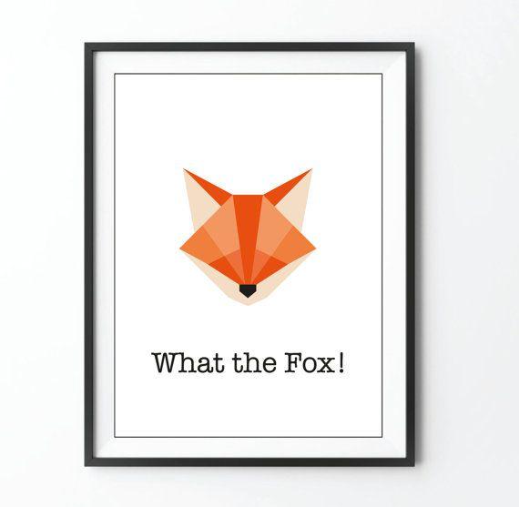 Was der Fuchs Drucken von Fox Abbildung Origami von AstridBrisson