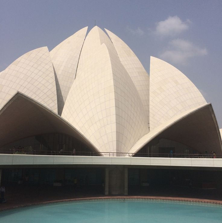 The Lotus Temple reminded us all of The Opera House in Sydney, all the way down to the scale-like details. It was also interesting to note that the temple was surrounded by large pools - of course, because lotuses grow in water.