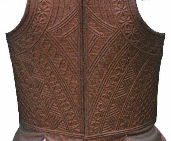 Rückenteil eines filigranen Mieder