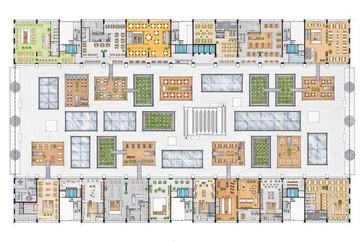 Markthal Rotterdam - plan of areas above stalls