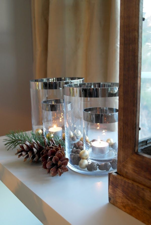 Christmas decoration inspired by nature. Mostly items are from Rivièra Maison.