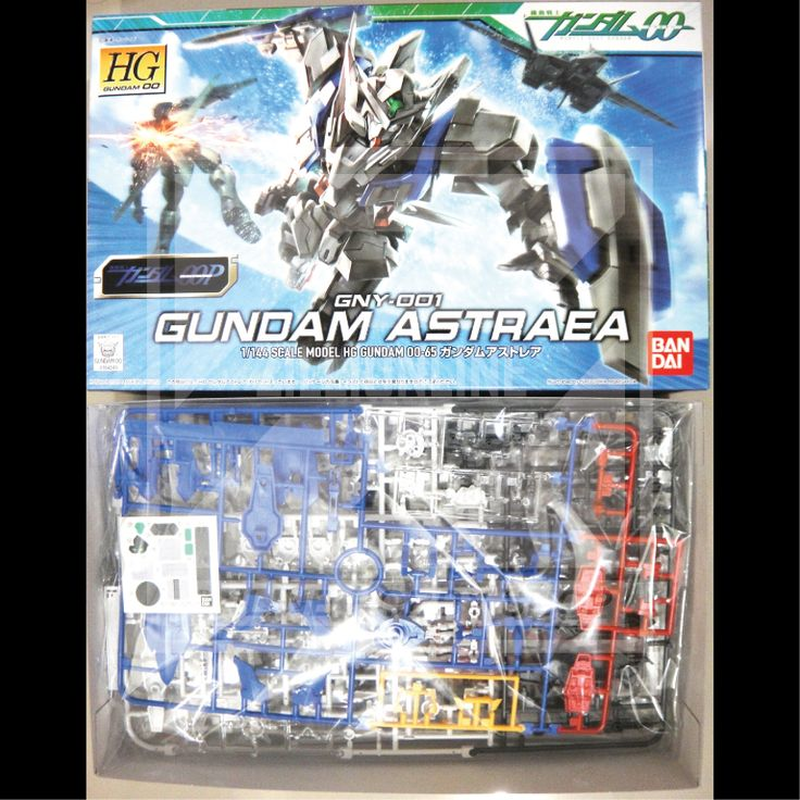 [MODEL-KIT] HG 1/144 - GNY-001 GUNDAM ASTRAEA. Item Size/Weight : 30 x 19 x 6.7 cm / 305g. (*ITEM SIZE & WEIGHT BEFORE PACKAGED). Condition: MINT / NEW & SEALED RUNNER.  Made by BANDAI.