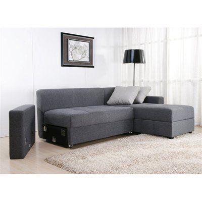 DHP Sutton Convertible Sectional Sofa - an alternative to Friheten from Ikea (higher armrest!)