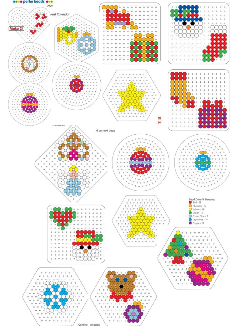 Advent calender of perler:
