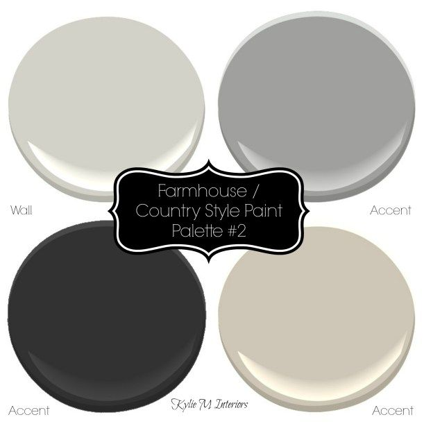 Farmhouse, country style paint palette with Sherwin Williams paint colours