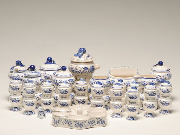 Canister Set Blue Onion China Pinterest Blue And