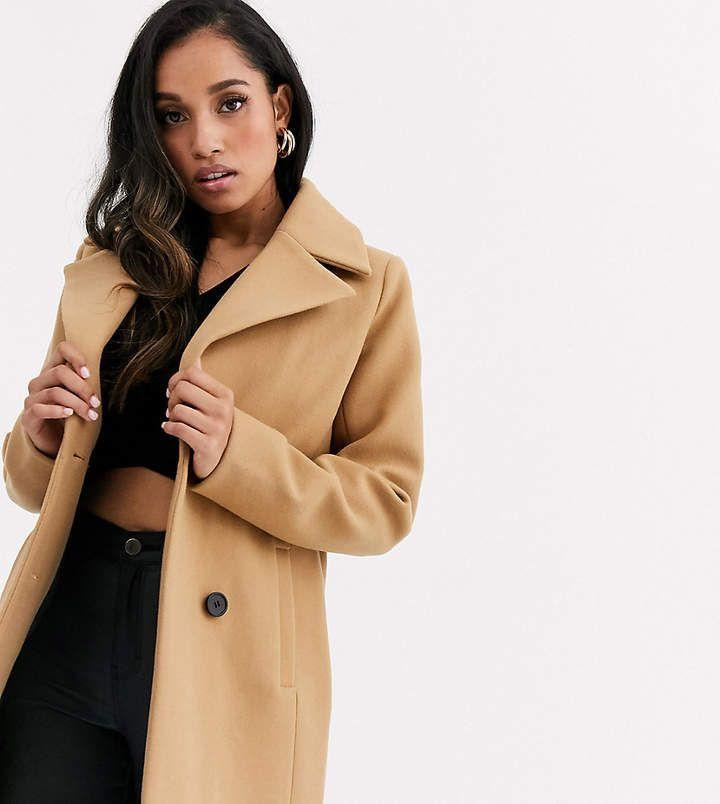 Union Petite Smart Double Ted Coat, Fashion Union Pea Coat