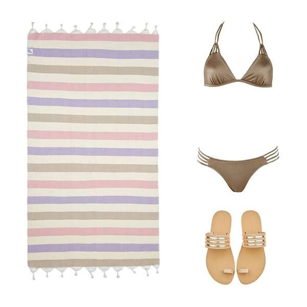A perfectly coordinated beach look = @MonaMer #bikini + @ValiaGabriel slip-on sandals (for easy on & off) + a @SeaYouSoon hammam towel! Let's hit the beach! Vamos a la playa! Stock up on yours ▷ links BELOW! #wecreateharmony #monamer #beachlook #valiagabriel #seayousoon #beachtowel #sandals #prettyinpink  Shop the beach look here ▷ Beach 'Hammam' Towel: http://bit.ly/1KjU5fd Bikini: http://bit.ly/1W51ndI Sandals: http://bit.ly/1RylzoG