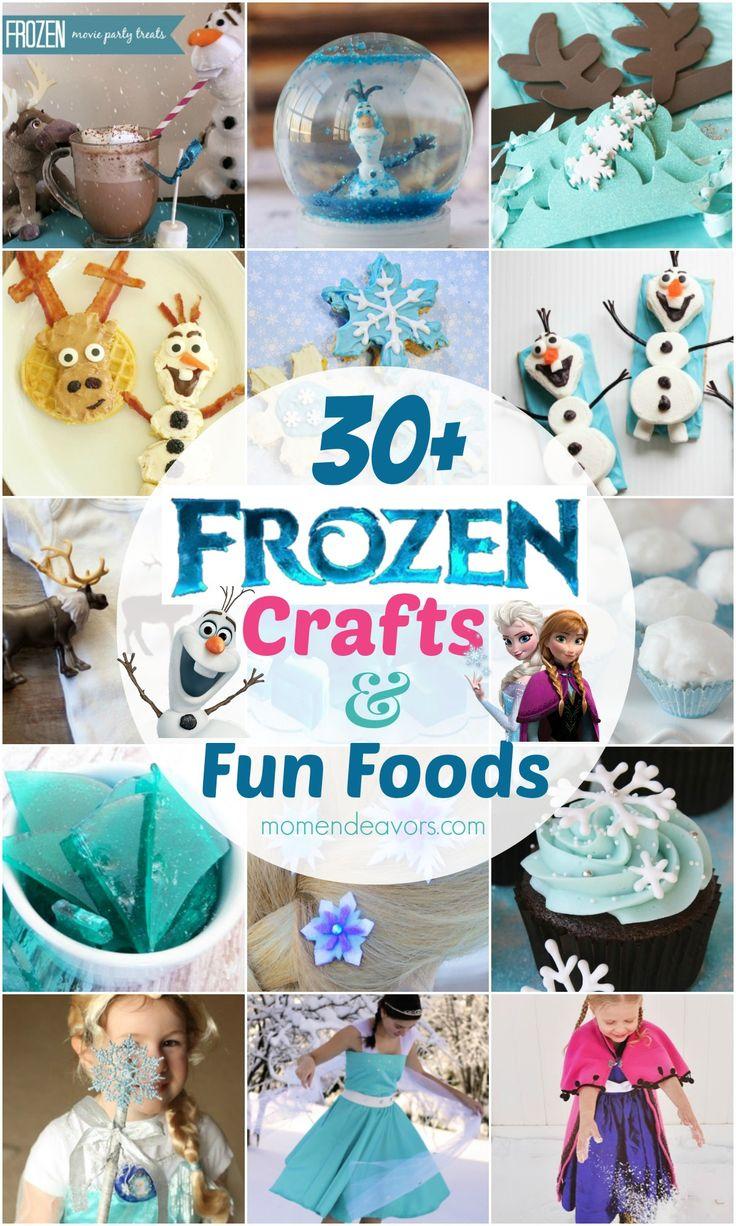 30+ Disney Frozen Crafts  Fun Food Ideas