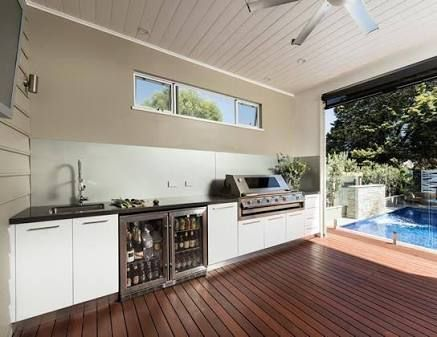 Image result for outdoor kitchen cabinets laminex