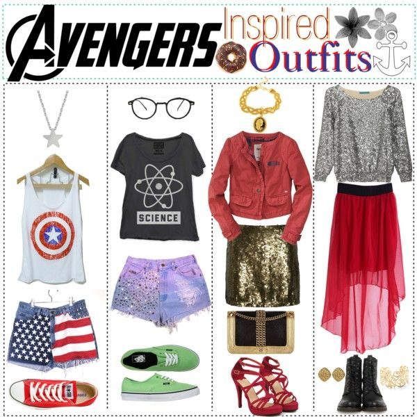 """""""avengers inspired outfits."""" by tip-tastic on Polyvore"""