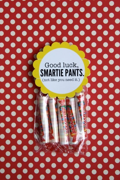 So cute for the first day of school!! #Good Luck to all the #smartiepants out there! #Gift #Backtoschool