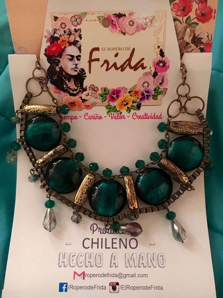 Hermoso collar by El Ropero de Frida.  Chilean handcraft Collar necklace