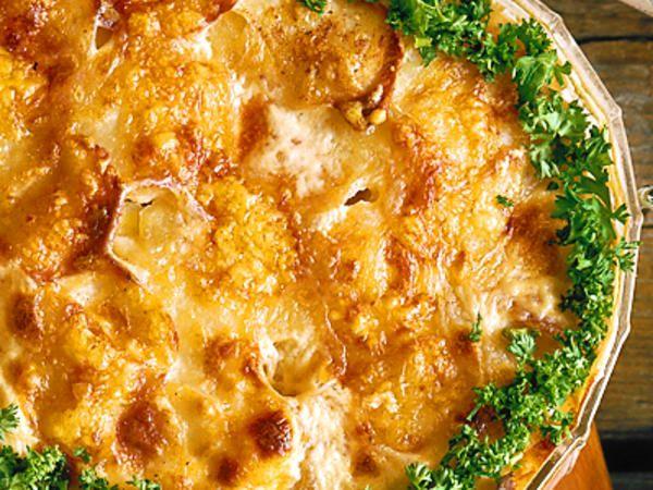 Potatisgratäng till korvar