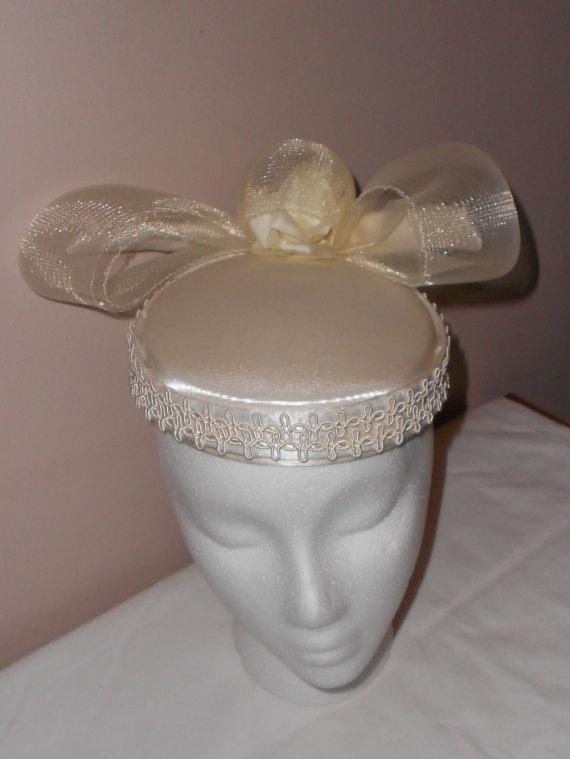 Vintage Hat 1980s Wedding Hat by outofthepastvintage on Etsy, $45.00