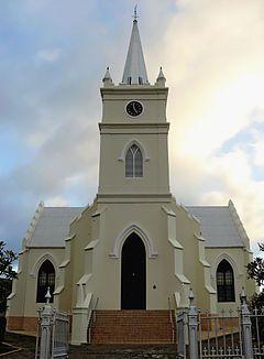 NG gemeente Prins Albert - Die kerkgebou van die NG gemeente Prins Albert waarvan die hoeksteen op 1 Oktober 1860 gelê is.
