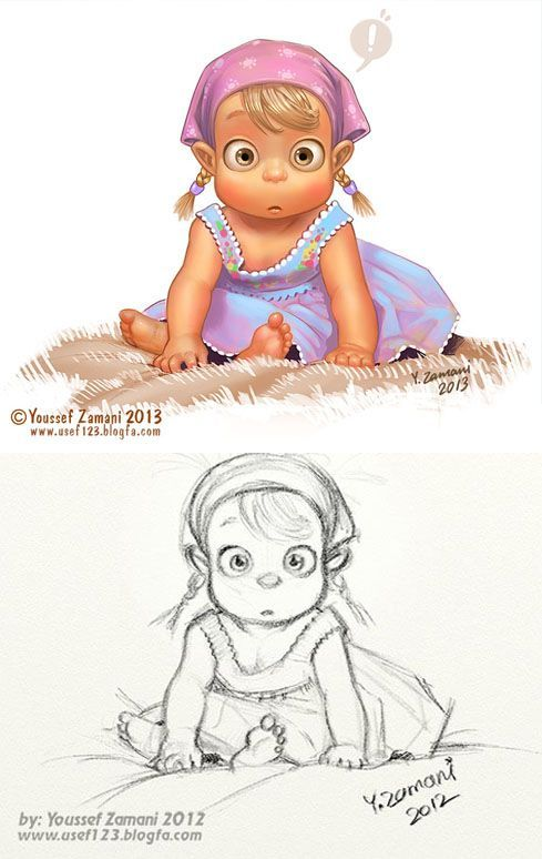 Image result for character design drawings of babies