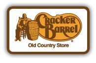 Cracker Barrel donates gift cards to nonprofit groups for fundraising purposes. They have a list of criteria your request letter must include, then mail or drop off the request at your local Cracker Barrel. Application requirements: http://www.crackerbarrel.com/about-us/cracker-barrel-foundation/how-to-apply-for-funding/