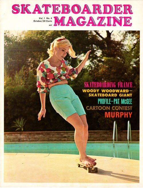 How cool is this lady? We love this cover of vintage skateboarding mag from USA!