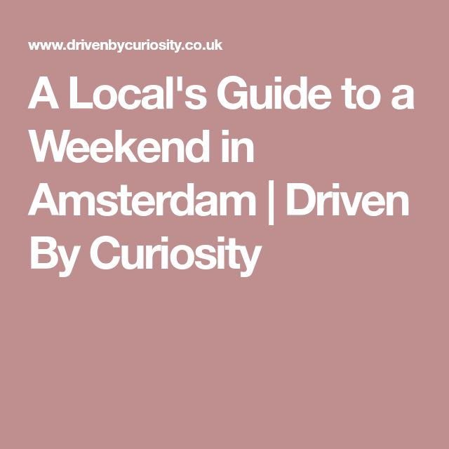 A Local's Guide to a Weekend in Amsterdam | Driven By Curiosity