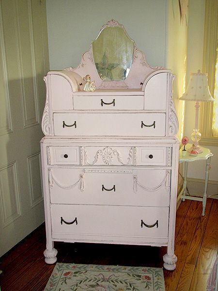 simply shabby chic ccabinet | Shabby Chic White Dresser with Mirror