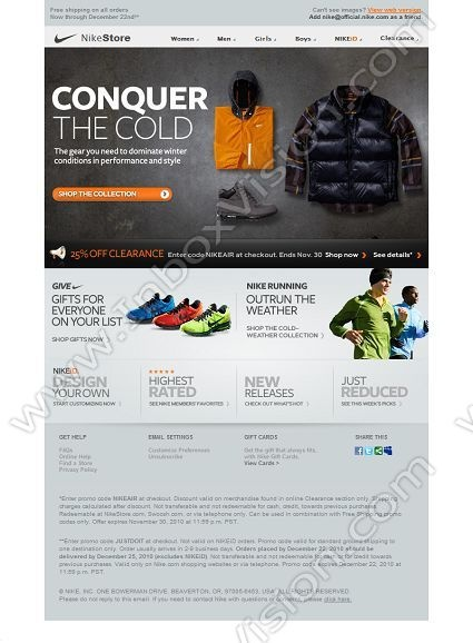 Company:  Nike Inc. Subject:  Winter Essentials for Any Sport or Style              INBOXVISION providing email design ideas and email marketing intelligence.    www.inboxvision.com/blog/  #EmailMarketing #DigitalMarketing #EmailDesign #EmailTemplate #InboxVision  #SocialMedia #EmailNewsletters