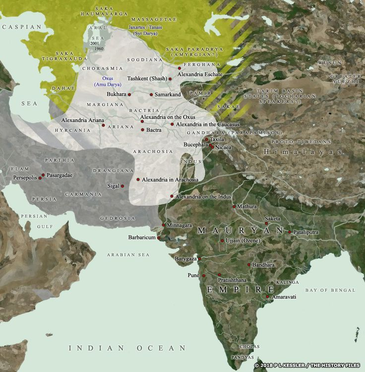 Map of Central Asia u0026 India with
