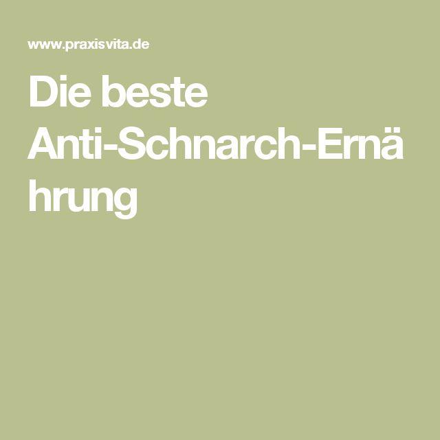 Die beste Anti-Schnarch-Ernährung
