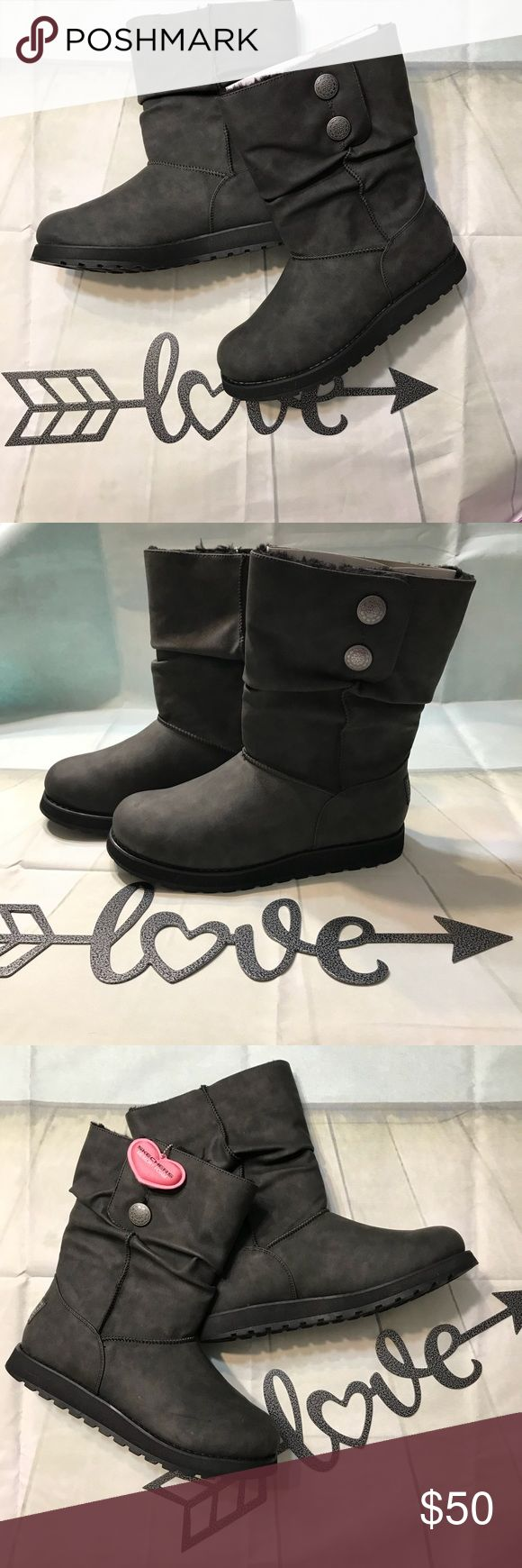 🖤Skechers Keepsakes Boots🖤 NWT Womens Skechers Keepsakes Leatherette Mid Calf Boot- size 8.5, Black Bought and never wore, still have cardboard insert & paper in them.   - - Last picture gives full description of boots- - Skechers Shoes Winter & Rain Boots #midcalfboots