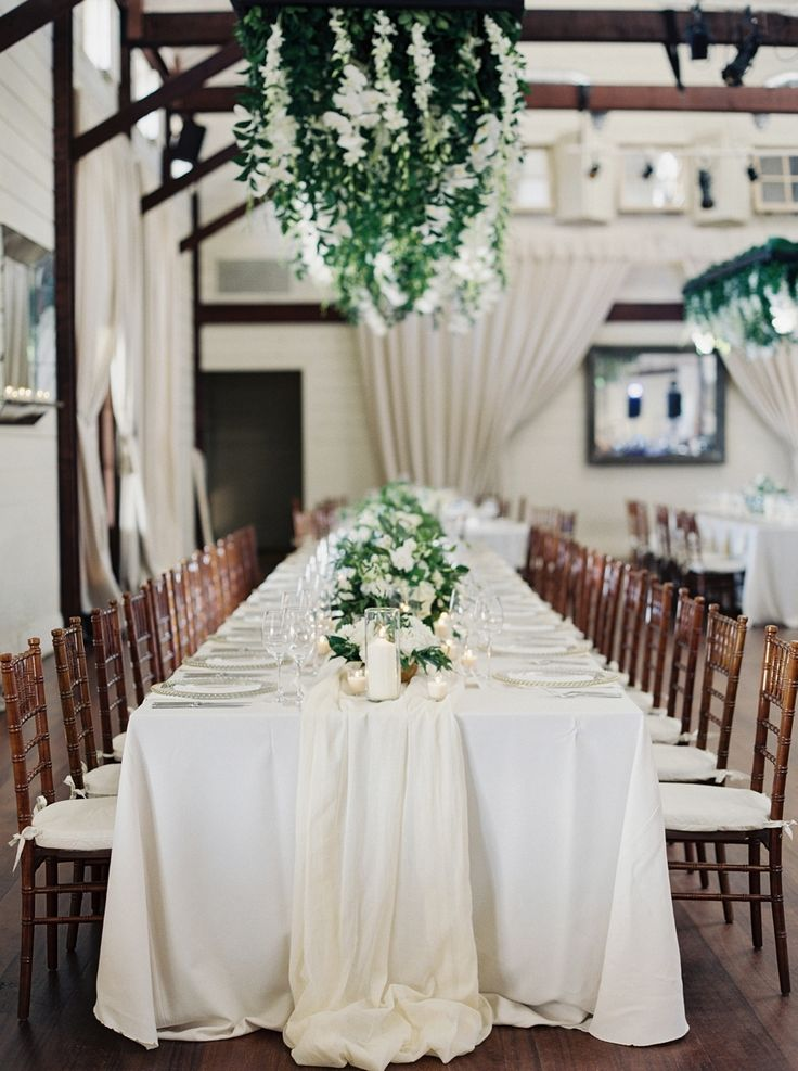 wedding reception venues woodstock ga%0A Hanging Florals Created a WOW Reception Design  Style Me Pretty