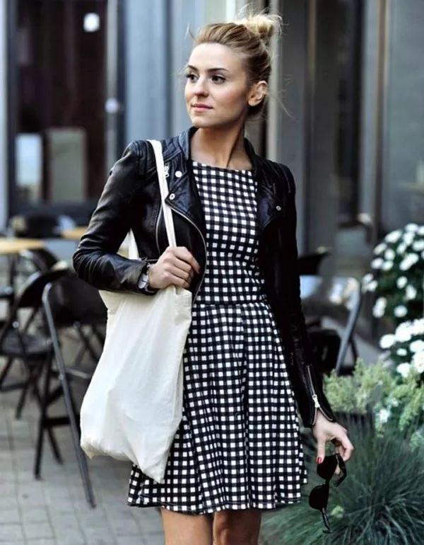 vestido-xadrez-preto-e-branco