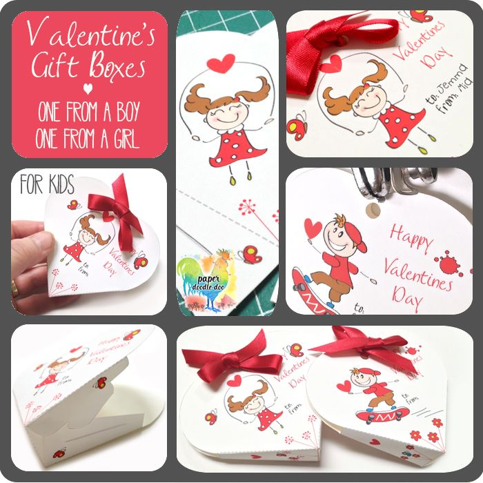 Free valentine printables for the kids at Paper Doodle Doo.