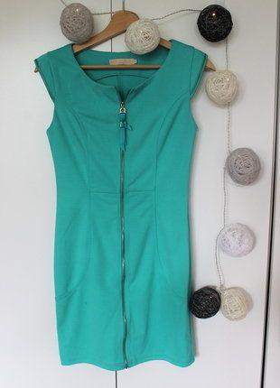 Kup mój przedmiot na #vintedpl http://www.vinted.pl/damska-odziez/krotkie-sukienki/18753287-niepowtarzalna-mietowa-sukienka