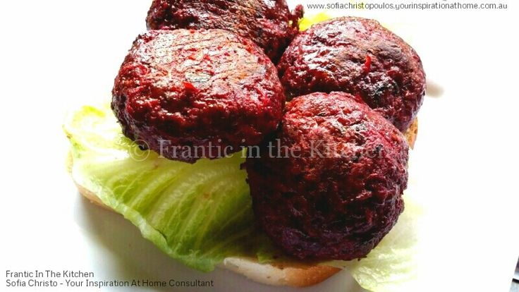Beetroot and Beef Patties