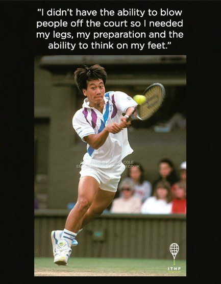 #MondayMotivation from Michael Chang, holder of 34 career titles including the 1989 #FrenchOpen: ITHF Class of 2008.
