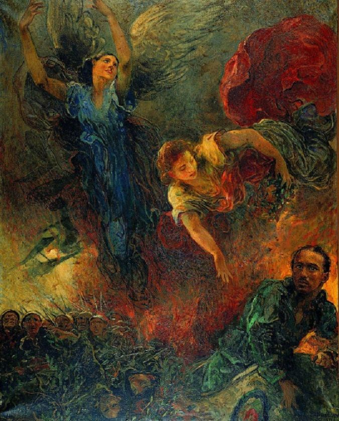 The silence - Plinio Nomellini - Heroic Wings