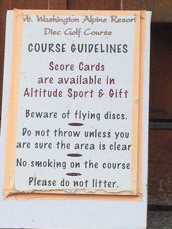 Disc Golf course information, Mount Washington Alpine Resort , 1 Strathcona Pkwy, Mount Washingt